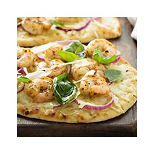 Pizza aux crevettes nordiques